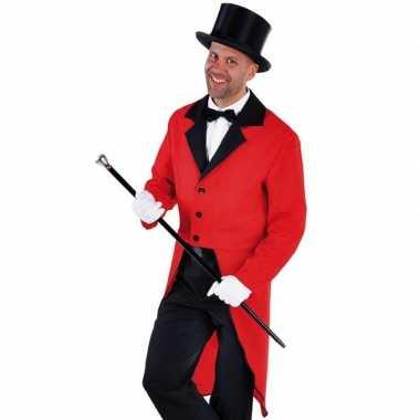 Slipjas rood met bijpassende hoed maat xl