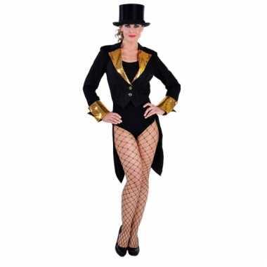 Slipjas voor dames zwart met goud