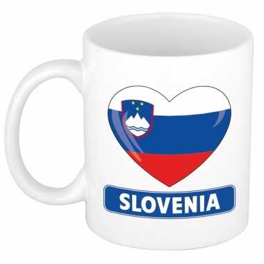 Sloveense vlag hart mok / beker 300 ml