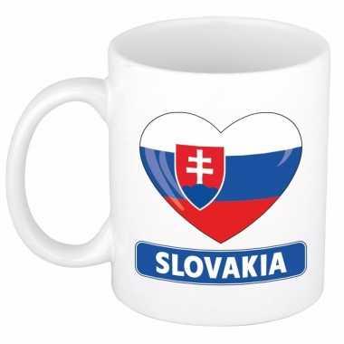 Slowaakse vlag hart mok / beker 300 ml