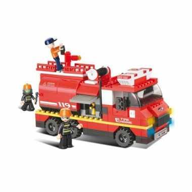 Sluban brandweerwagen met waterkanon 28,5 x 28,5 cm