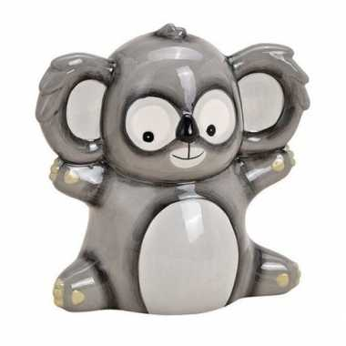 Spaarpot koala grijs 18 cm
