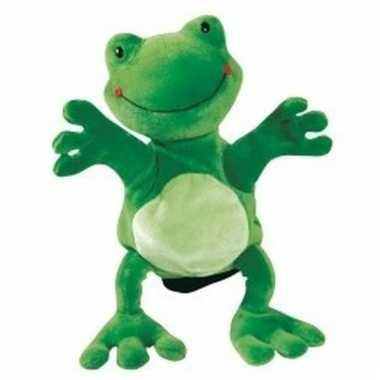 Speelgoed handpop kikkertje 22 cm