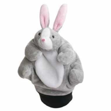 Speelgoed handpop konijn 22 cm