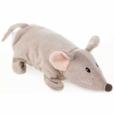 Speelgoed handpop muis 24 cm
