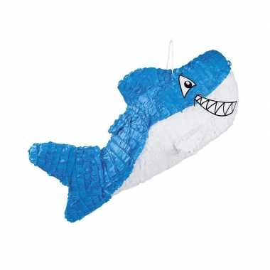 Speelgoed/kinderfeest pinata haaien blauw 60 cm