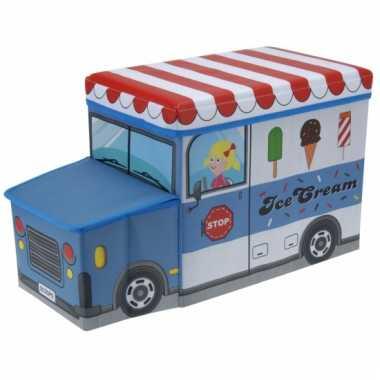 Speelgoed opbergdoos in ijscowagen uitvoering