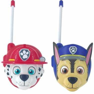Speelgoed paw patrol walkietalkies chase/marshall voor kinderen
