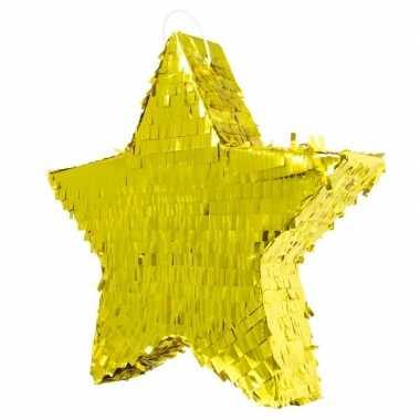 Speelgoed pinata ster goud 45 cm