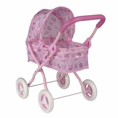 Speelgoed poppenwagen roze