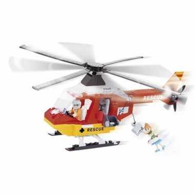 Speelgoed redding helikopter bouwstenen set