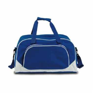 Sporttas blauw 42 cm