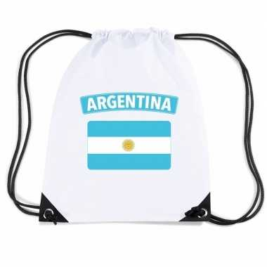 Sporttas met rijgkoord vlag argentinie