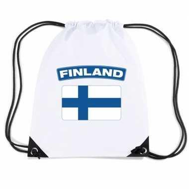 Sporttas met rijgkoord vlag finland