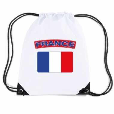 Sporttas met rijgkoord vlag frankrijk
