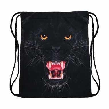 Sporttasje met zwarte panter kop