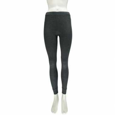 Strakke thermo legging antraciet grijs voor dames