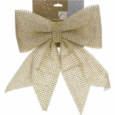 Strik goud kerstversiering 29 cm