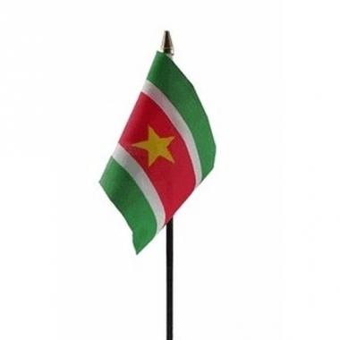 Suriname luxe zwaaivlaggetje polyester