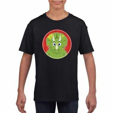 T-shirt dinosourus zwart kinderen