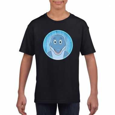 T-shirt dolfijn zwart kinderen