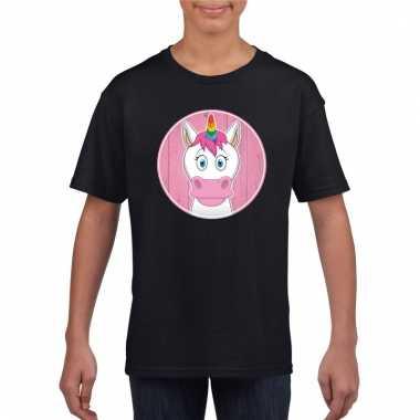 T-shirt eenhoorn zwart kinderen
