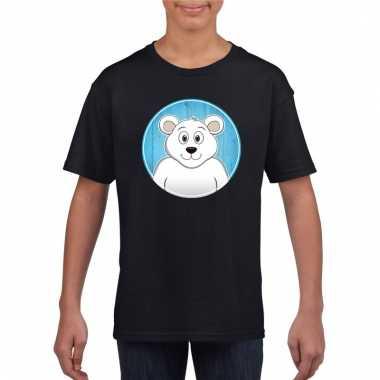T-shirt ijsbeer zwart kinderen