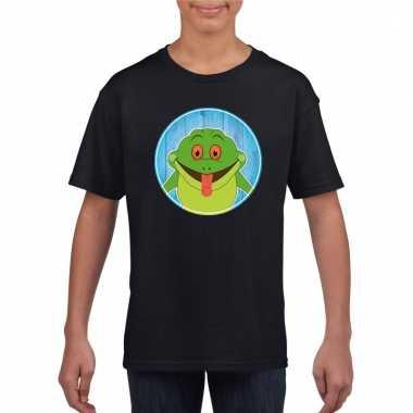 T-shirt kikker zwart kinderen