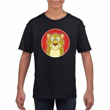T-shirt luipaard zwart kinderen