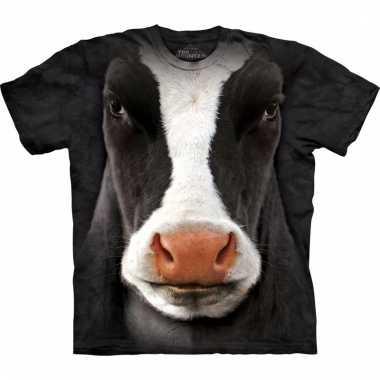 T-shirt met realistische koe