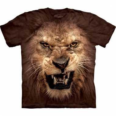 T-shirt met realistische leeuw