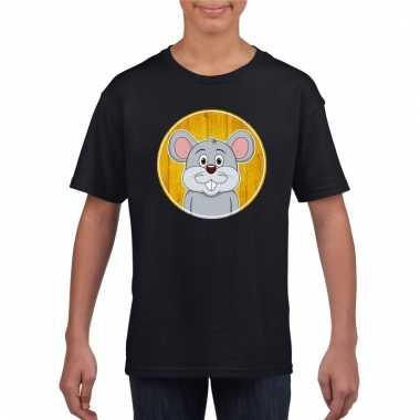 T-shirt muis zwart kinderen