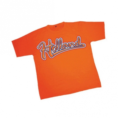 T-shirt oranje met tekst holland