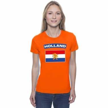 T-shirt oranje nederland vlag oranje dames