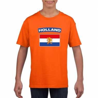 T-shirt oranje nederland vlag oranje kinderen