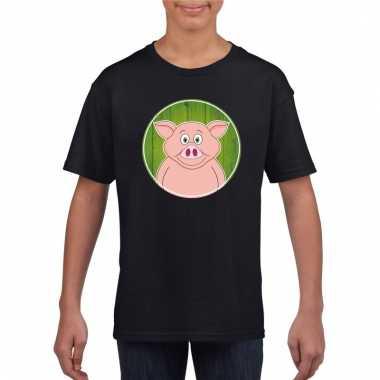 T-shirt varken zwart kinderen
