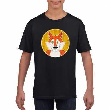 T-shirt vos zwart kinderen