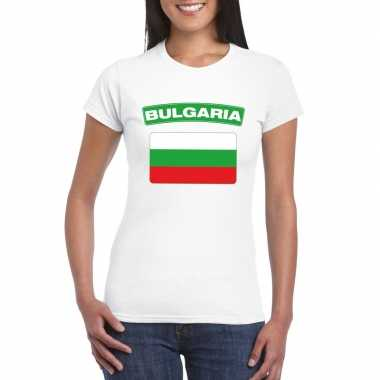 T-shirt wit bulgaije vlag wit dames