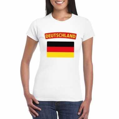 T-shirt wit duitsland vlag wit dames