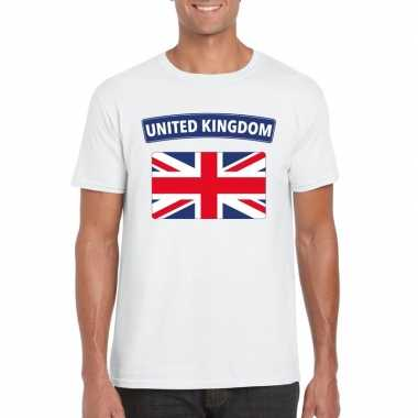 T-shirt wit engeland vlag wit heren