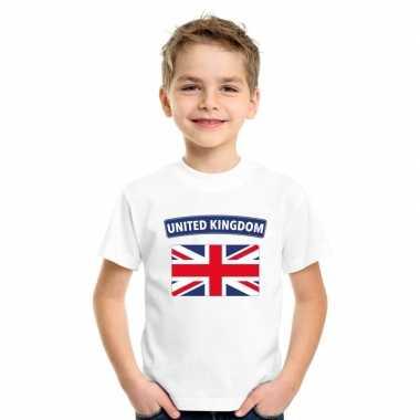 T-shirt wit engeland vlag wit jongens en meisjes