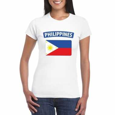 T-shirt wit filipijnen vlag wit dames