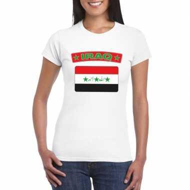 T-shirt wit irak vlag wit dames
