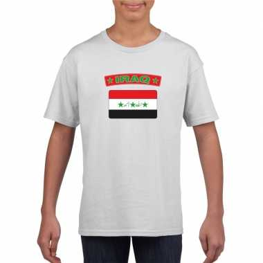 T-shirt wit irak vlag wit jongens en meisjes