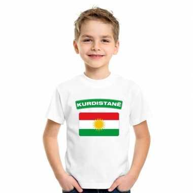 T-shirt wit koerdistan vlag wit jongens en meisjes