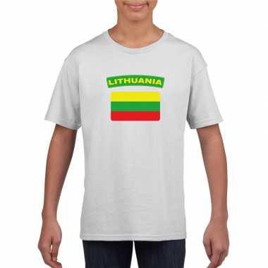 T-shirt wit litouwen vlag wit jongens en meisjes