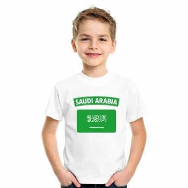 T-shirt wit saudi-arabie vlag wit jongens en meisjes