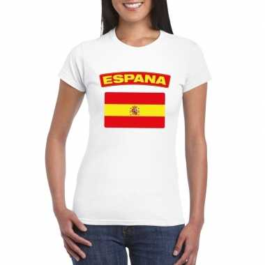 T-shirt wit spanje vlag wit dames
