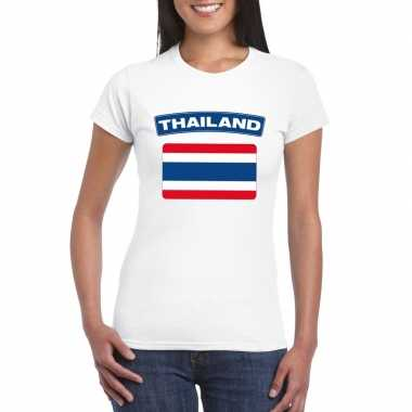 T-shirt wit thailand vlag wit dames