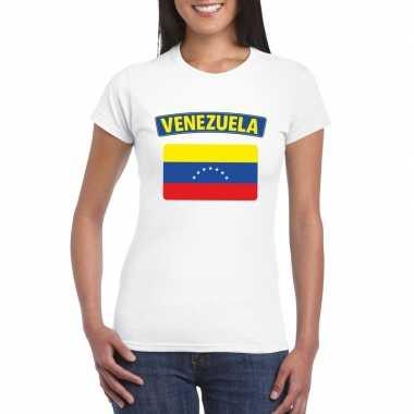T-shirt wit venezuela vlag wit dames